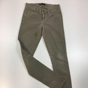 PAIGE DENIM Sage Green Slim Fit Skinny Jeans